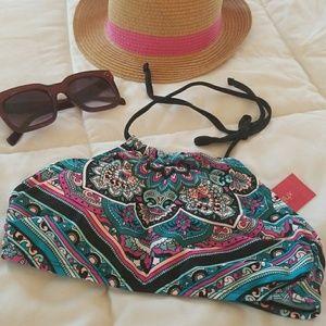 Xhilaration Swim - Colorful mandala design bikini top